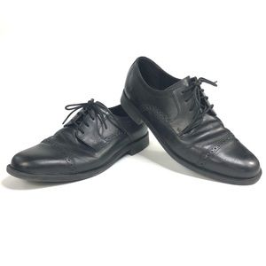 Cole Haan Mens Black leather dress shoes